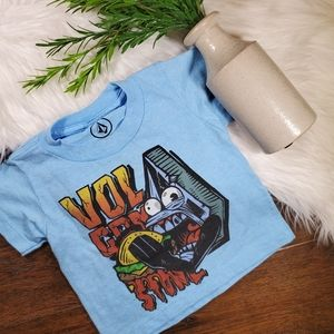 Volcom Short Sleeve Shirt | sz 2T | blue | red